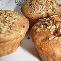 Muffins au bleu, aux poires et aux noix