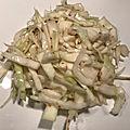 Salade chou blanc japonaise au sesame