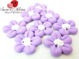 Boutons fleurette mauve (3)