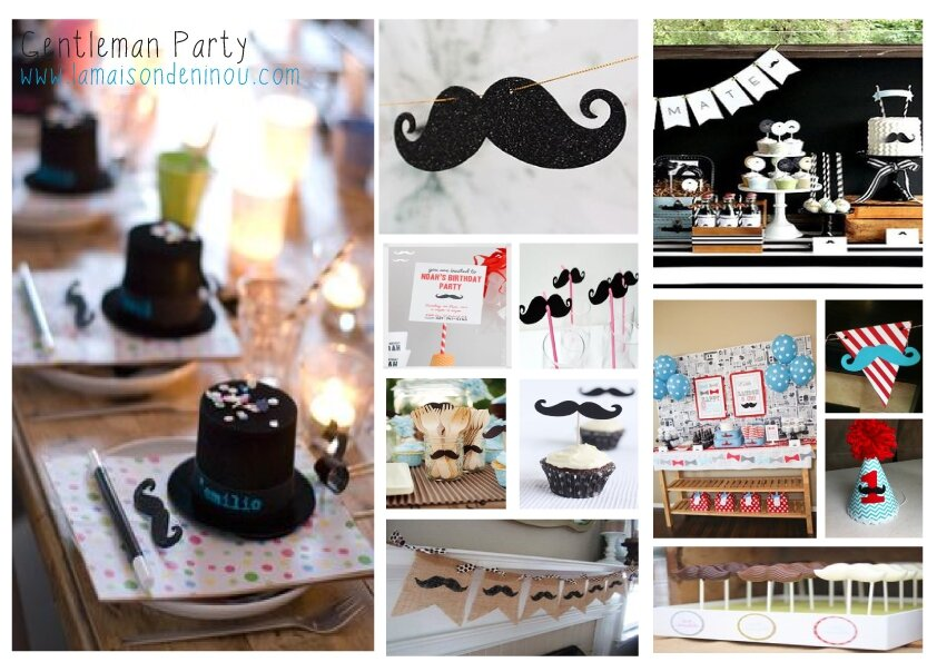 Decoration moustache bapteme