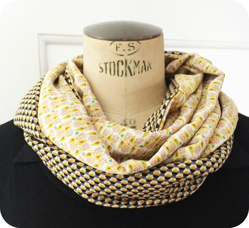 Snood été vintage graphic 2