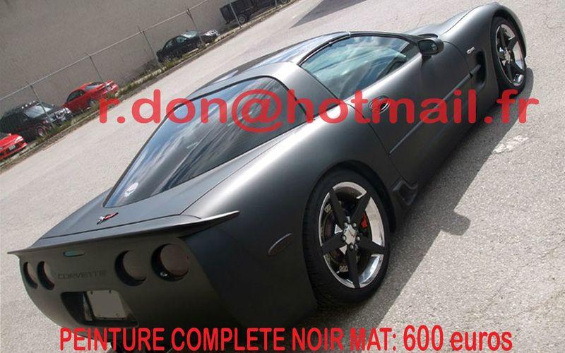 corvette film vitre auto voiture peinture mat film auto. Black Bedroom Furniture Sets. Home Design Ideas