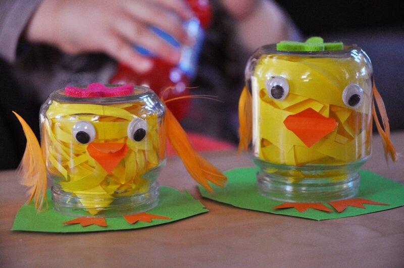 Petits bricolages de p ques fnych - Pot en verre bebe ...