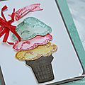 Carte anniversaire - Tampon stampin'up Parcelles de vie