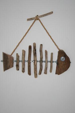 Un petit poisson dimension longueur 38 cm les for Petit bois flotte