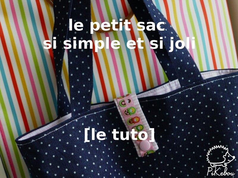 Diy le petit sac ultra facile qui sert tout tuto - Comment faire un sac en tissu ...