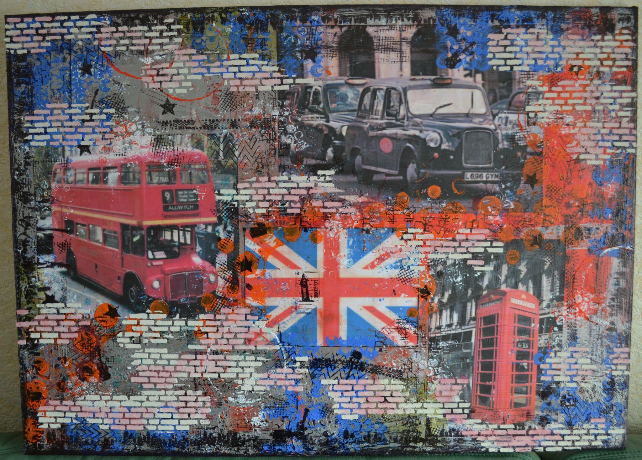 toile mixed media : London