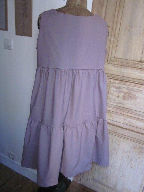 Robe CAROLINE en coton vieux rose (1)