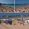 Playa San Lorenzo surpeuplée...