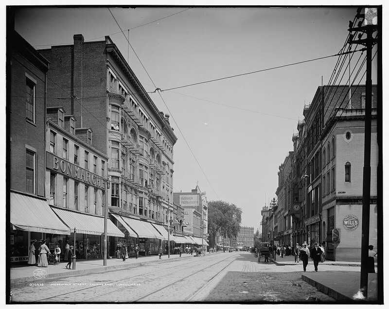 Lowell, Massachusetts-rue Merrimack-1906