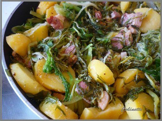 salade chaude pomme de terre scarole et lard 02