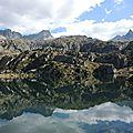 Lac de la Glère, lac, crête d'Espade et Campanal de Larrens (65)