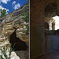 Abbaye troglodyte de saint-roman (gard)