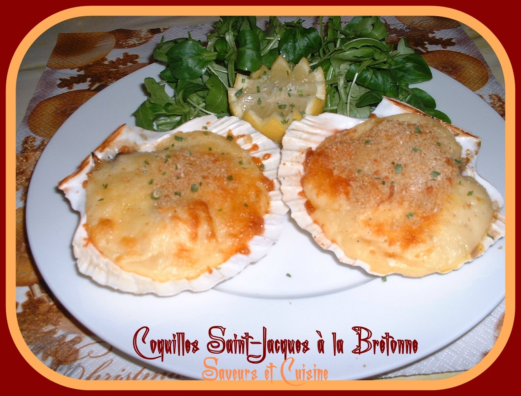 Coquille St Jacques Maison