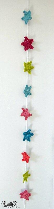 Guirlande étoiles crochet