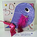 A card with a bird, by Sandrine