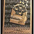 Carte mini-enveloppe musique