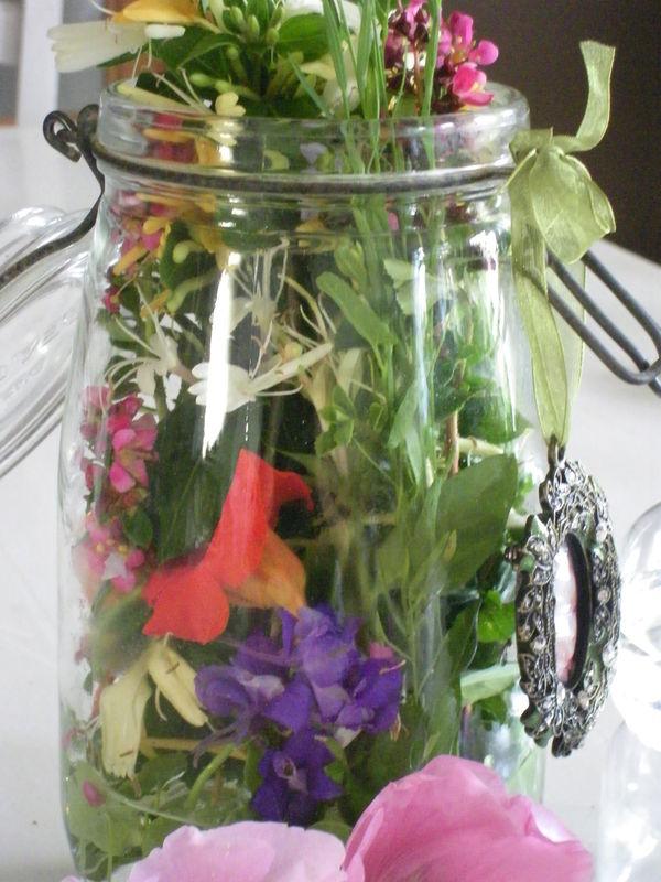 Mes fleurs dans un bocal