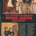 1978: les débuts au cinéma de mj dans the wiz - salut!, 1984