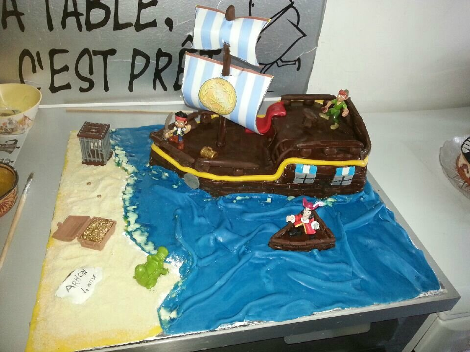 decoration gateau jake et les pirates
