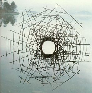 Andy_Goldsworthy_Sticks_Framing_a_Lake_sculpture