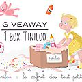 { giveaway } 1 box tiniloo