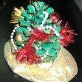 Déco de Noël faite par Isa à l'école