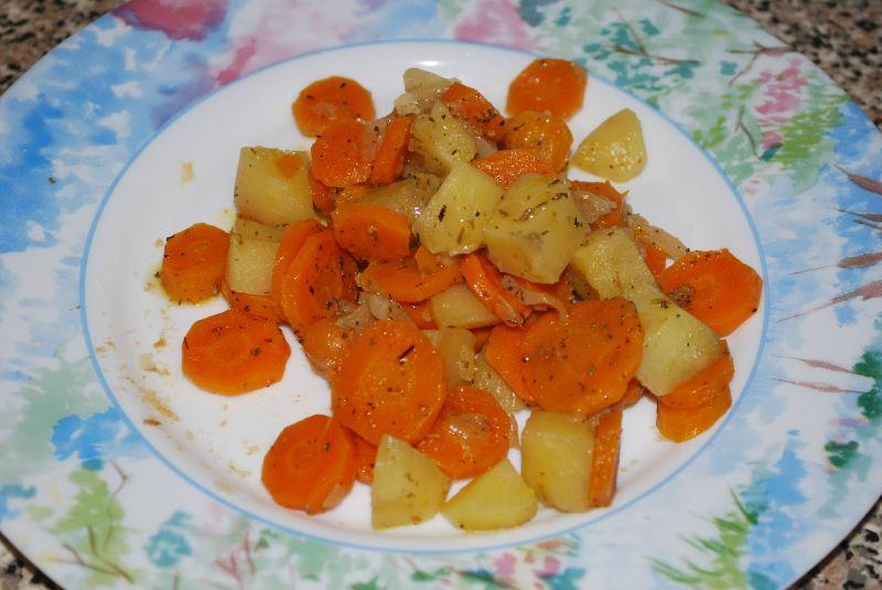 carottes et pommes de terre de mon enfance