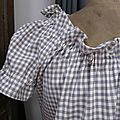 Robe ALBANE en coton vichy fris et écru (6)