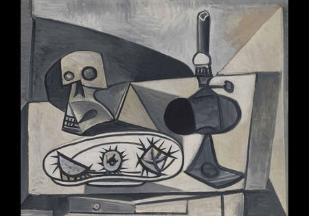 Pablo Picasso, Skull, Sea Urchins and Lamp on a Table, 1946. Musée Picasso, Paris (MP198) © RMN / Jean-Gilles Berizzi / Succession Picasso / DACS 2009