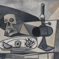Pablo Picasso, Skull, Sea Urchins and Lamp on a Table, 1946. Muse Picasso, Paris (MP198)  RMN / Jean-Gilles Berizzi / Succession Picasso / DACS 2009