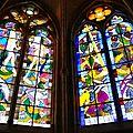 Nevers, cathédrale, choeur gothique, vitraux, détails 4(58)
