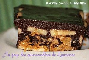 BARRES CHOCOLAT-BANANES Au pays des gourmandise de Laurence
