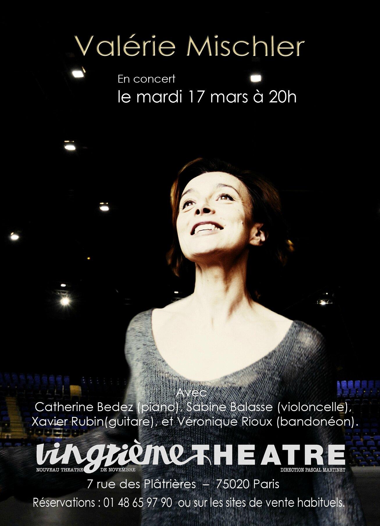 Valérie Mischler / Affiche pour le XX ième Théâtre