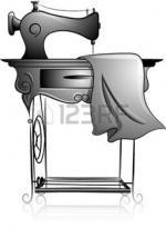28751918-ic-ne-illustration-dot-d-une-machine--coudre--p-dale-dessin-en-noir-et-blanc