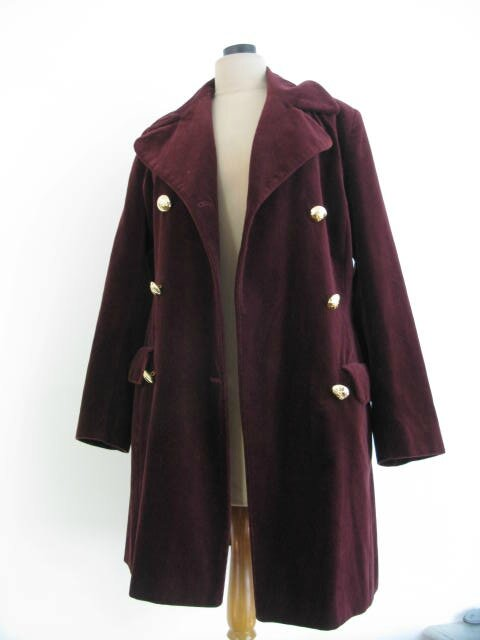 Manteau Bordeaux 1