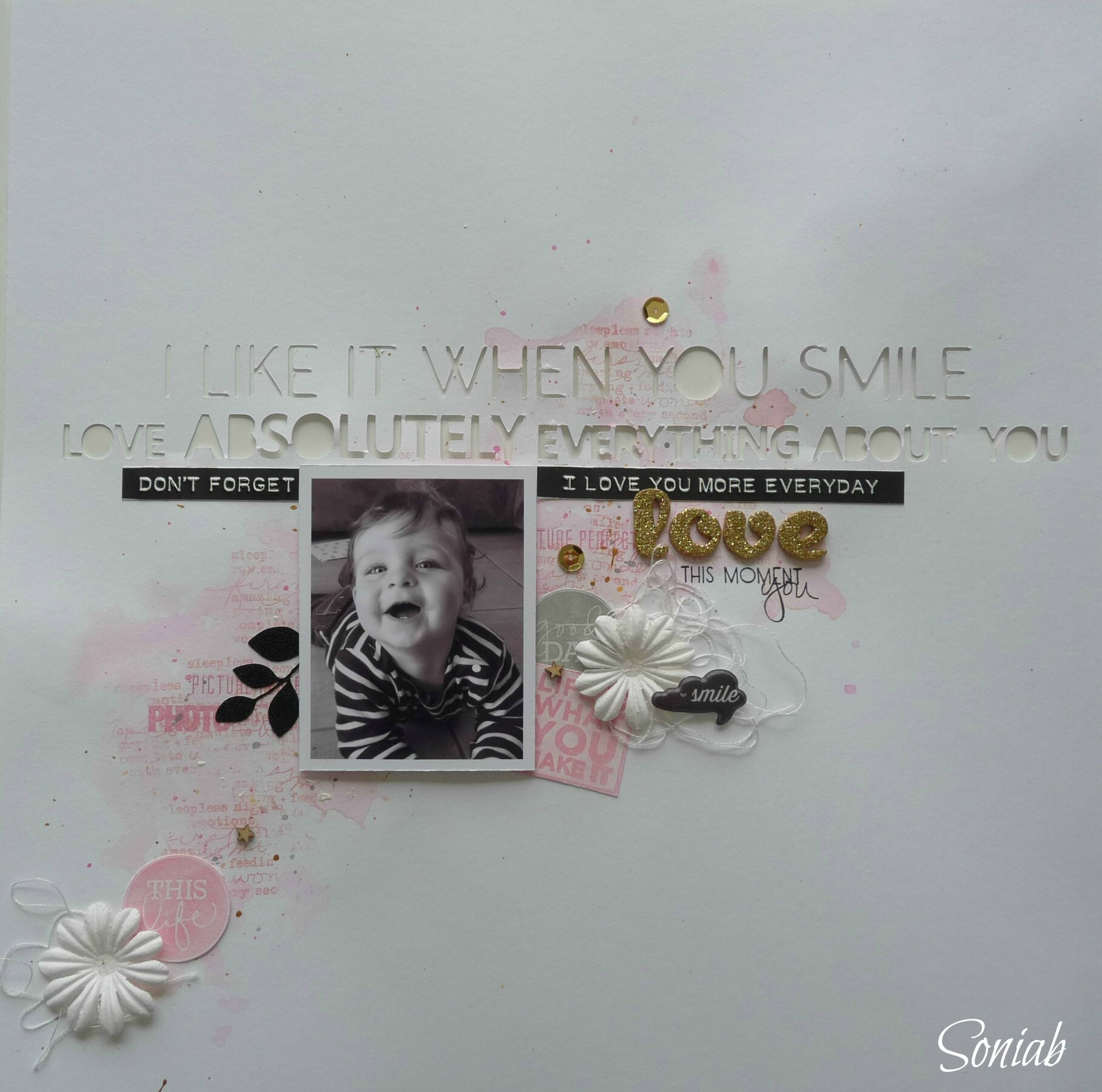 "Page ""Love"", atelier Binka, Scrap it easy"
