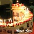 gâteau anniversaire escalier bougies
