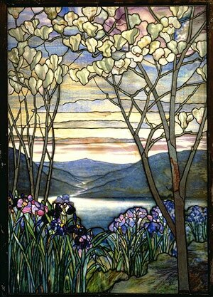 Tiffany magnolia and irises 1908 musee arts appliques