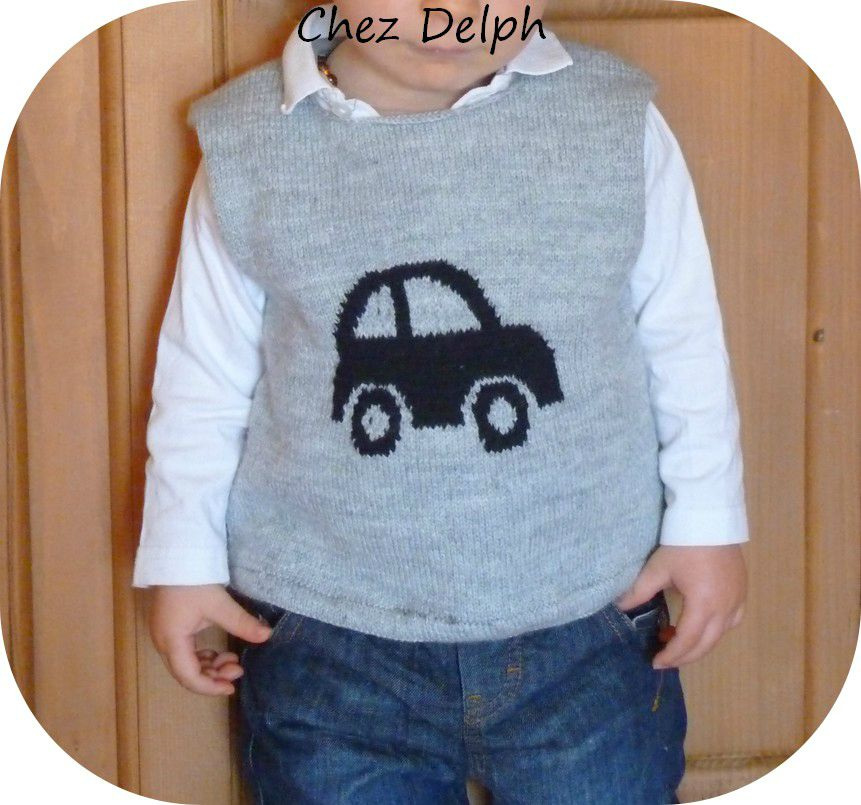 PULL A TRICOTER AVEC VOITURE, Galerie Creation