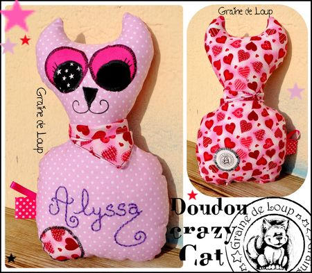 Doudou Crazy Cat commande Alyssa