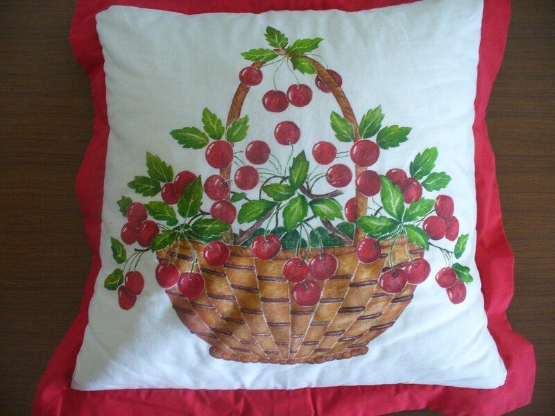 cuscino con le ciliegie