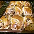 Petits pains au lait cannelle chocolat