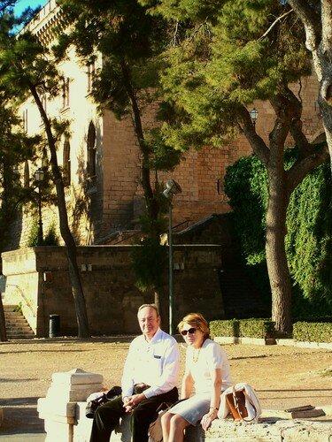 Palma-jardins de la cathédrale papa et maman