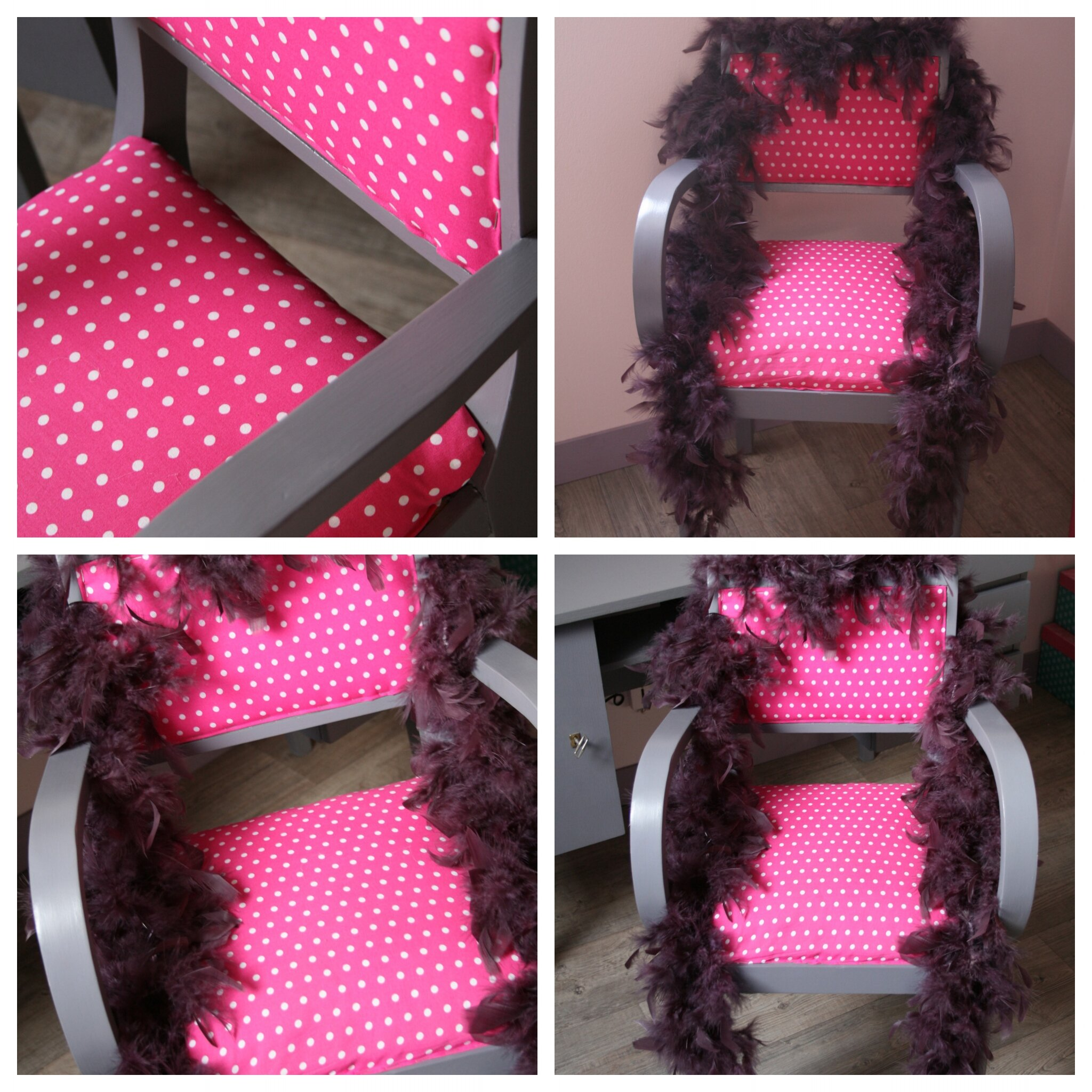 Chambre fille rose et violet vintage   n°17 l'atelier