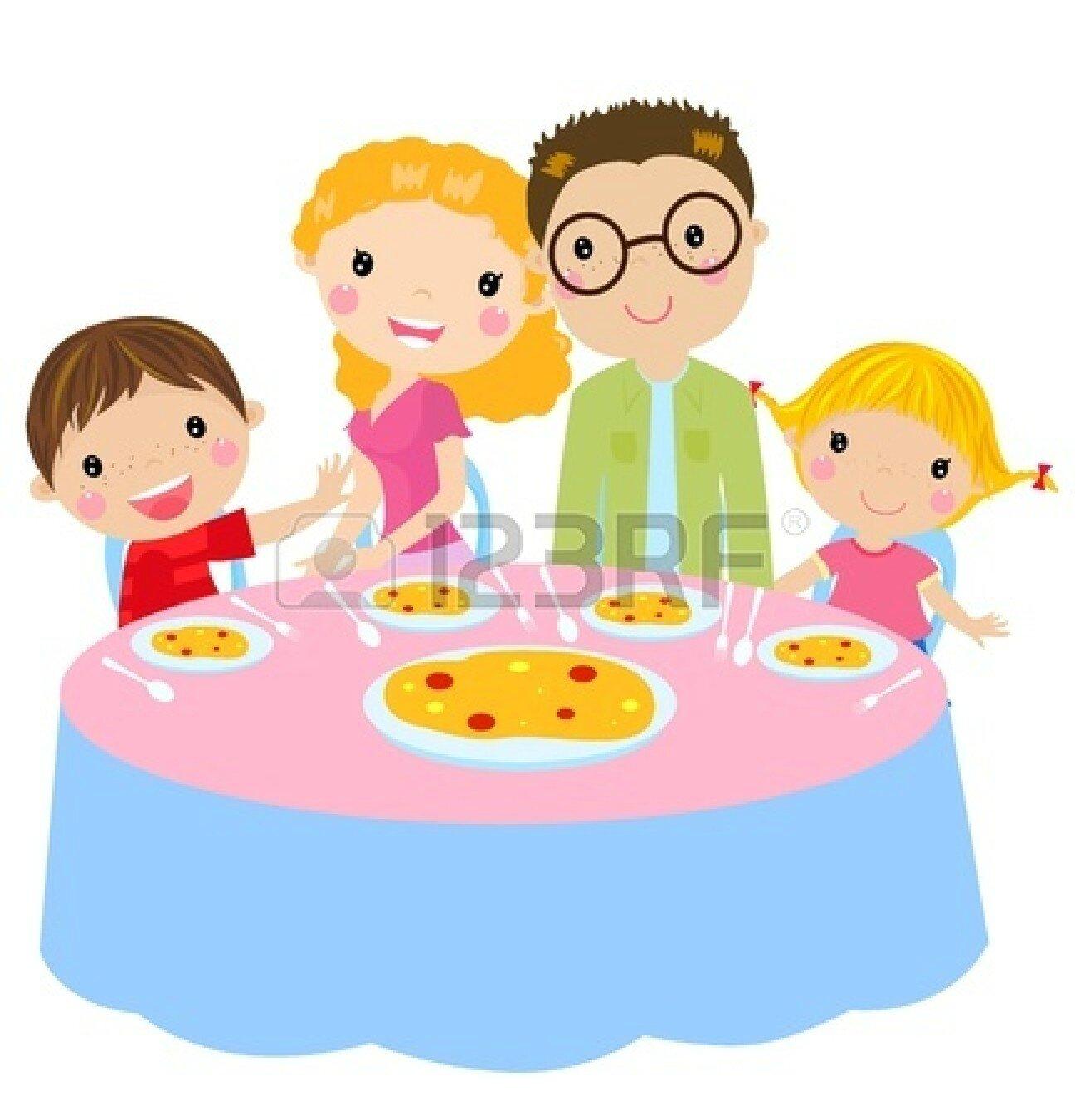 clipart family dinner table - photo #23