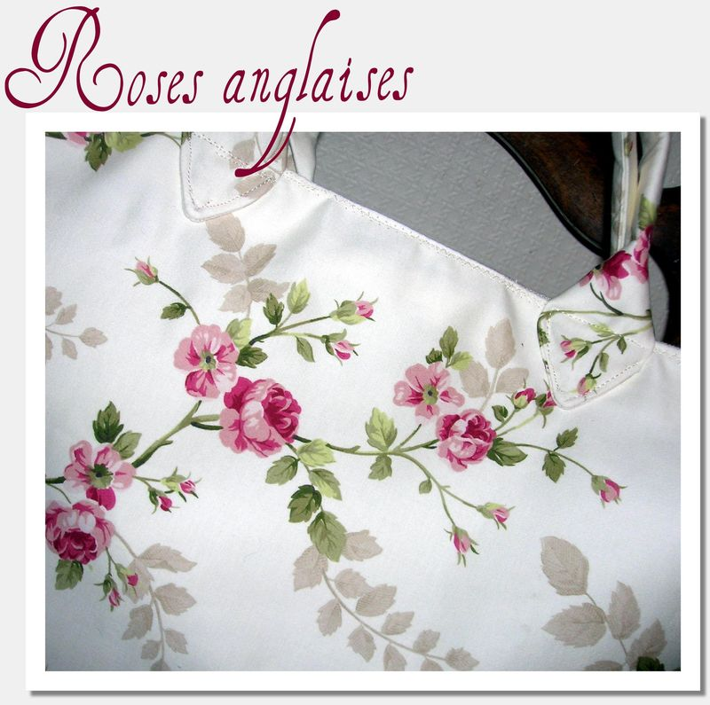Roses anglaises dor mificelle - Tissus fleuris anglais ...