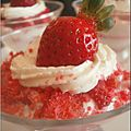 Coupe de fraises biscuite