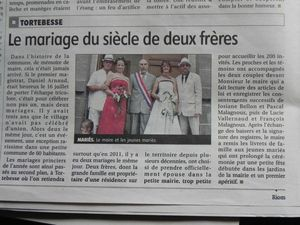Article journal mariage