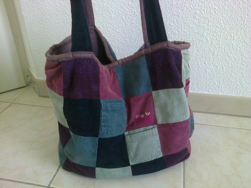 sac en patch velours